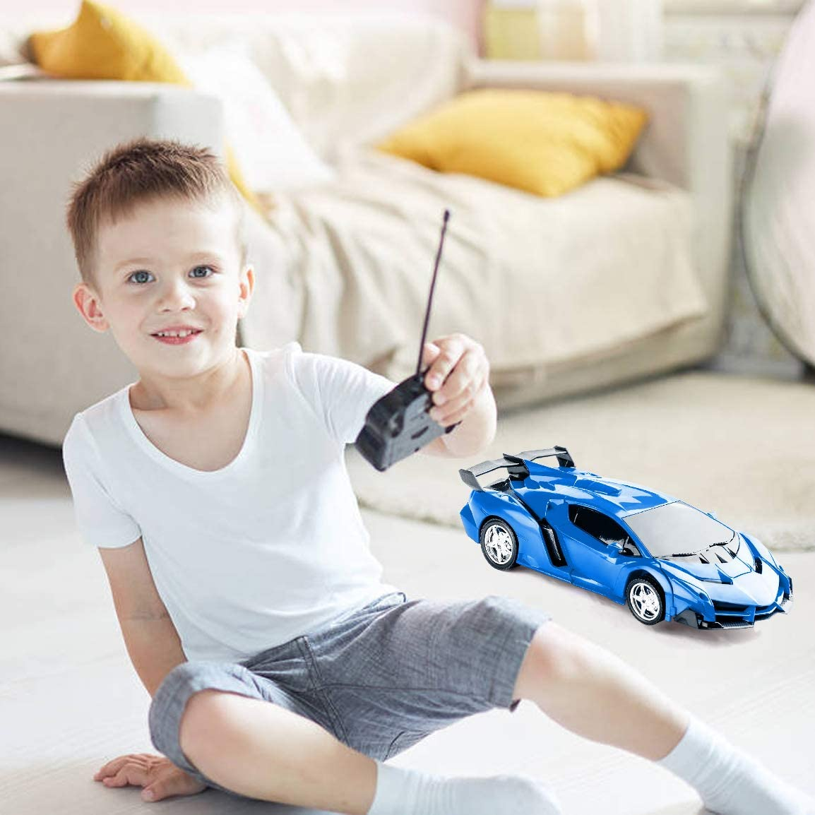 Highttoy Children Remote Control Deformation Car Robot Toys for Kids-Hot Gift