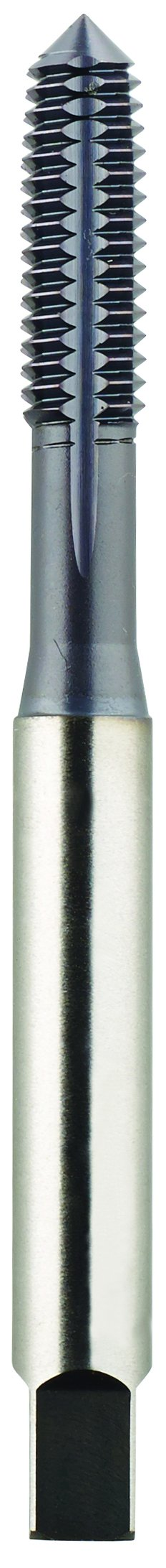 Morse Cutting Tools 61620 Thread Forming High Performance Taps, High-Speed Steel, Plug Style, Titanium Aluminum Nitride Finish, DIN Length, H3 Pitch Diameter Limit, #4-40 Size