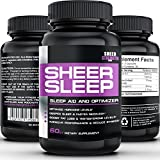 Sheer Natural Sleep Aid Pills - Maximum Strength Formula with Melatonin, GABA, Valerian Root and More - 60 Vegetarian Sleeping Pills