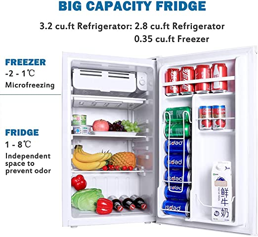 Amazon.com: Northair refrigerador compacto con mini ...