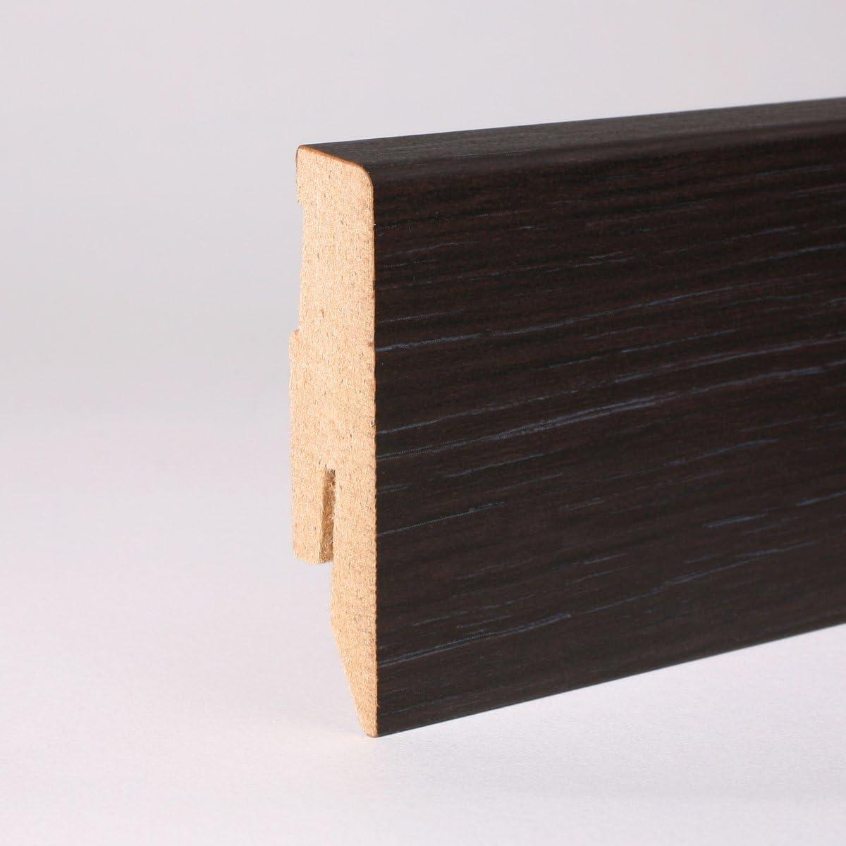 Sockelleiste Fu/ßleiste 60 x 20 x 2.600mm Dekor Eiche wei/ß