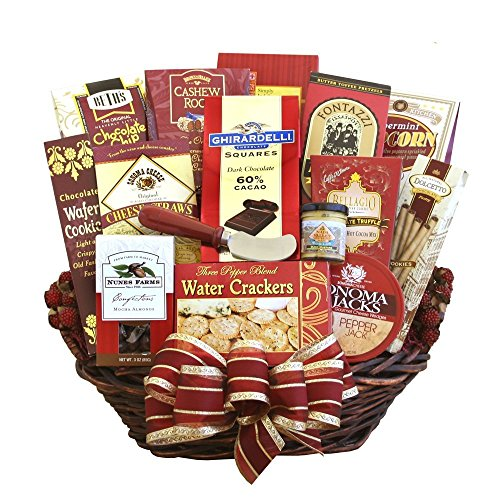 Deluxe Large Gourmet Food and Snacks Gift Basket - For the Whole Crowd! | Great Gourmet Gift Basket for Any Occasion (Gourmet Gift Baskets Review)