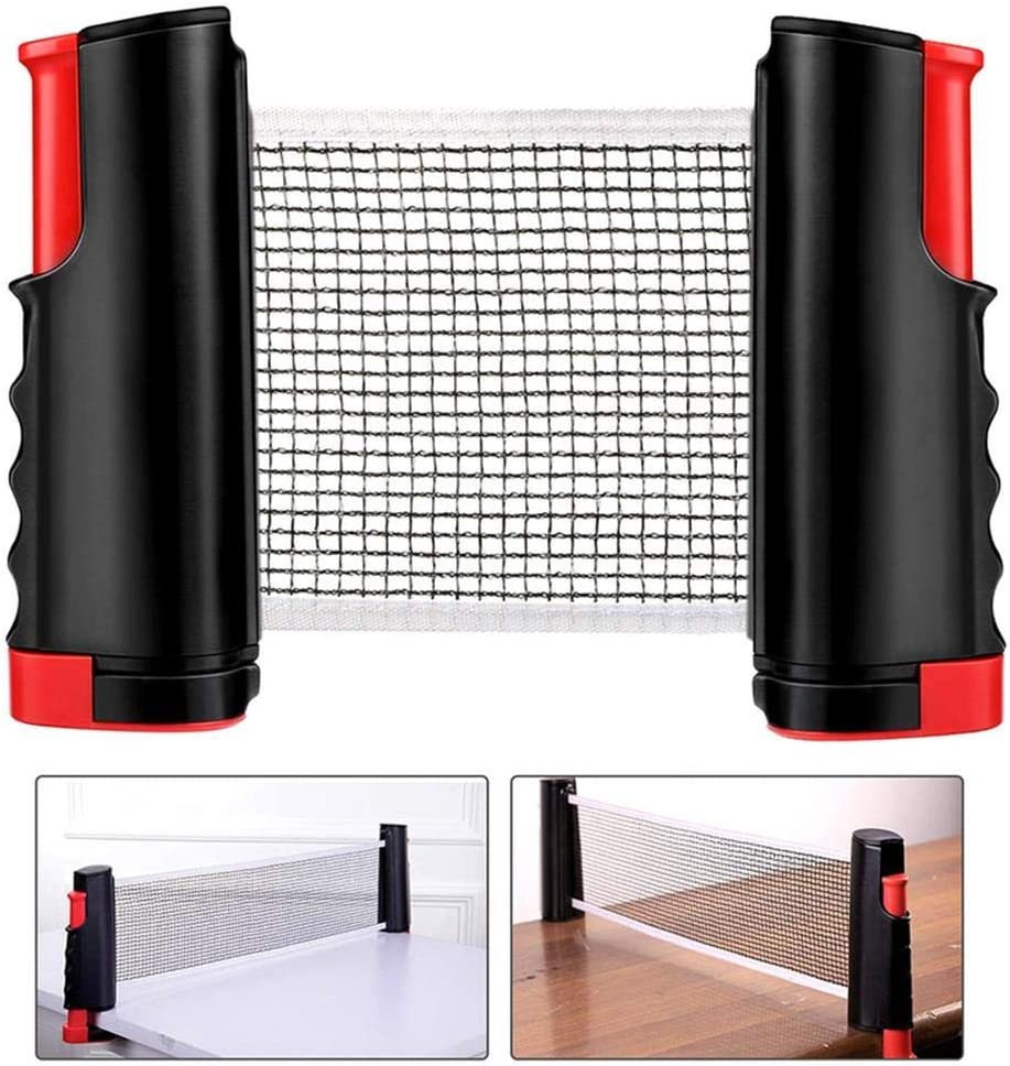 heresell Instant Indoor Outdoor Table Tennis Game Portable Travel Ping Pong Ball Set With Stretchable Net Racket Balls Table Tennis Set For Travel Home Use