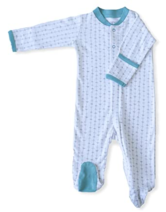 944ab1dd42a6 Amazon.com  Zippyz Baby Footed Pajamas ~ Zips from Foot to Belly (9 ...