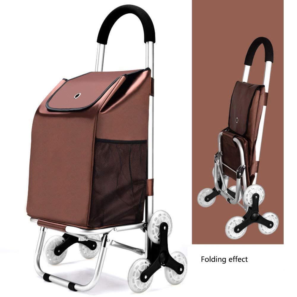 Trolley Portable Shopping Foldable Easy Climb Stairs Shopping Cart,A