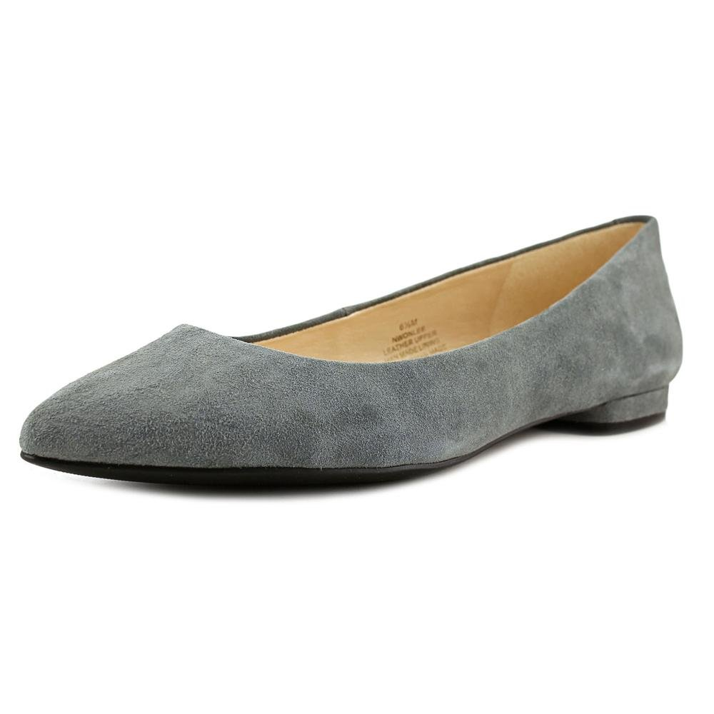 Nine West Women's Onlee Suede Ballet Flat B01EXXKYD2 8.5 B(M) US|Heather Grey