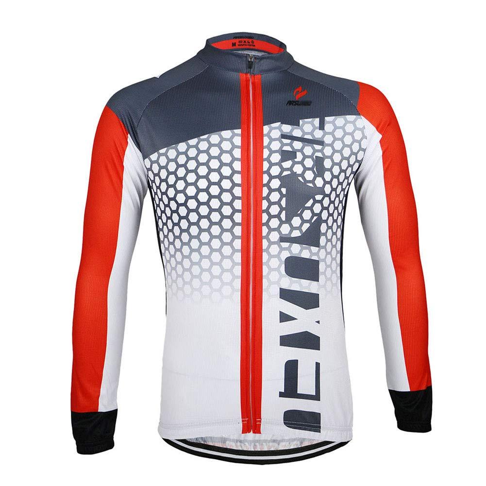 ZXCV Herren Frühling und Herbst Radtrikot Fahrrad-Lange Hülsen-Berg MTB Jersey Kleidung Shirts