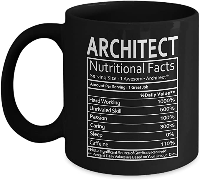 Amazon.com: Arquitecto nutricional datos taza – Arquitecto ...