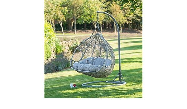 2be66041e Silla Siena para colgar cómoda, estilo silla estilo huevo, hasta 2 plazas,  para jardín.: Amazon.es: Jardín