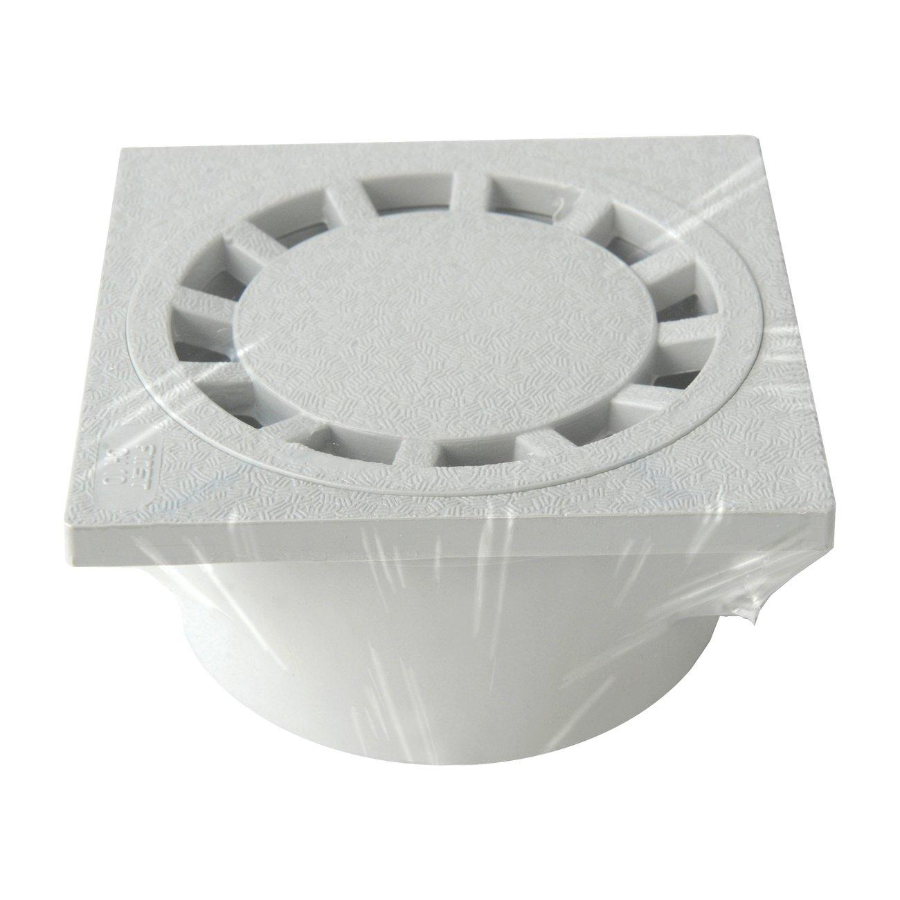 First Plast CHPVC10G Chiusino Sifonato in PVC 100 x 100 mm Grigio