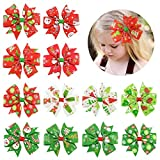 3' Hair Bows Clip 12 Pcs Boutique Alligato Halloween Bow Grosgrain Ribbon Accessories For Girls Baby Toddlers Kids