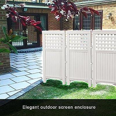 Retractable Garden Fence Outdoor Garden Yard 4 Panel Screen Enclosure Gated Fence Outdoor And Indoor Solar Garden Decorative Flexible Garden Border Wooden Home Garden