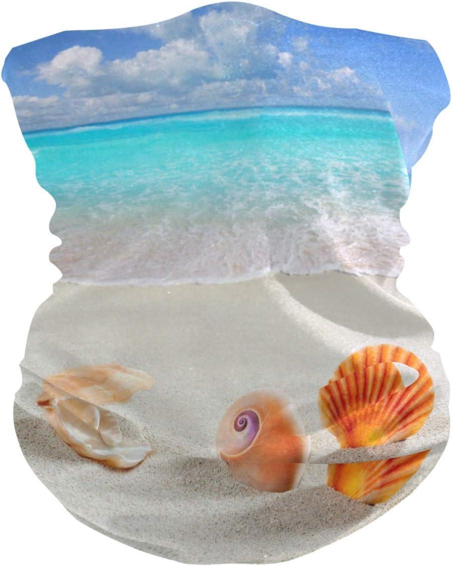 BUXI Printing 12-In 1 Headbands,Summer Tropical Beach Starfish Magic Scarf, Bandanas 12 En 1 A Prueba De Viento para Montar A Caballo En La Montaña,25x50cm