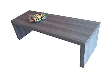 VE.CA-ITALY Tavolino basso salotto in legno moderno Rovere grigio ...