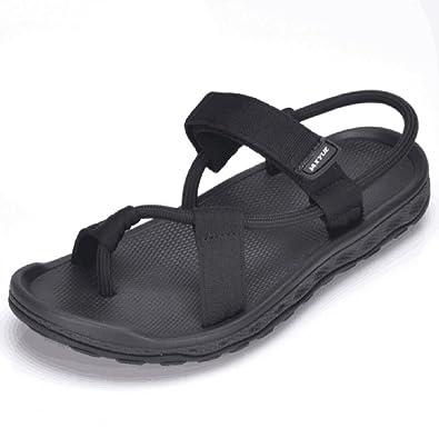 new styles 8da62 c9cc6 Amazon.com   IAXYUE Men Sandals 2018 Summer Men Black Beach Sandals Unisex  Summer Flat Shoes Sandalias para Hombre Size   Sandals