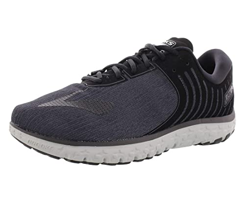 fd4ac7ec6b3d2 Brooks Men s PureFlow 6 Heather Black Grey Pinstripe Nylon Running Shoes 12  M US  Buy Online at Low Prices in India - Amazon.in