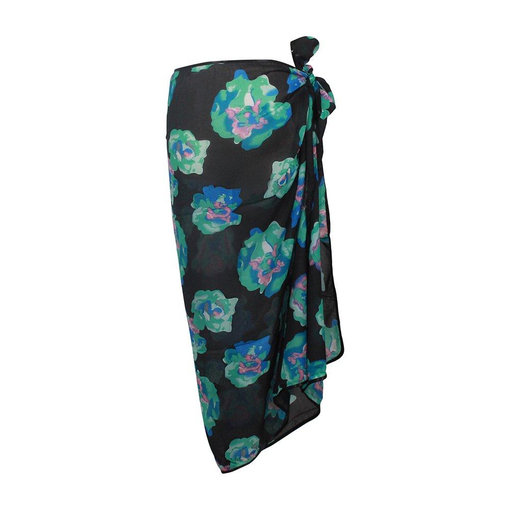 Mayfair Cashmere Black Green Sarong Ladies Womens Beach Cover up Sarong Dress Skirt