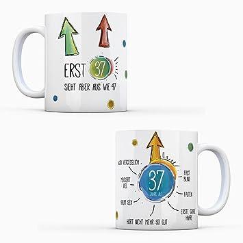 37 Geburtstag Kaffeetasse Sieht Aus Wie 47 Tasse Becher Schwarzer