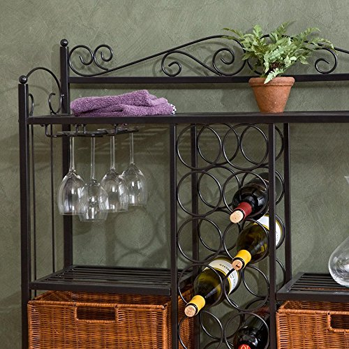 Celtic Bistro Bar Room Wine Rack Wicker Wine Rack