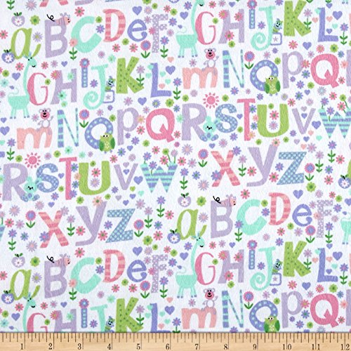Printed Flannel Alphabet Purple Fabric By The Yard (Purple Flannel Fabric)