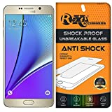 Samsung Galaxy Note 5 Roxel Unbreakable Anti Shock Series Tempered Glass With Additional Features [ 360° Flexbility,Anti-Dust,Precise Cutout,Finger Print Proof,Bubble-Free,Durable,Light Wieght & Scratch Resistant ]Screen Protector for Samsung Galaxy Note 5