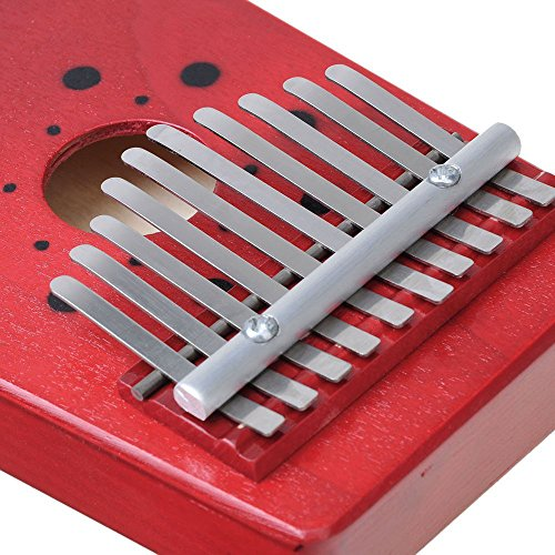 Luvay Kalimba Thumb Piano Mbira, Finger Piano African Instrument (10keys-Red) - Image 2