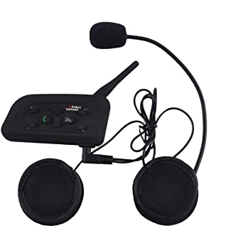 CARCHET Interfono Inalámbrico Con Micrófono Manos Libres Con Bluetooth Para Casco de Moto, Blanco y