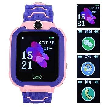 Reloj inteligente GPS para niños Llamada Bidireccional SOS Reloj ...