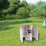 REDCAMP Folding Outdoor Stove Windscreen, 10 Plates