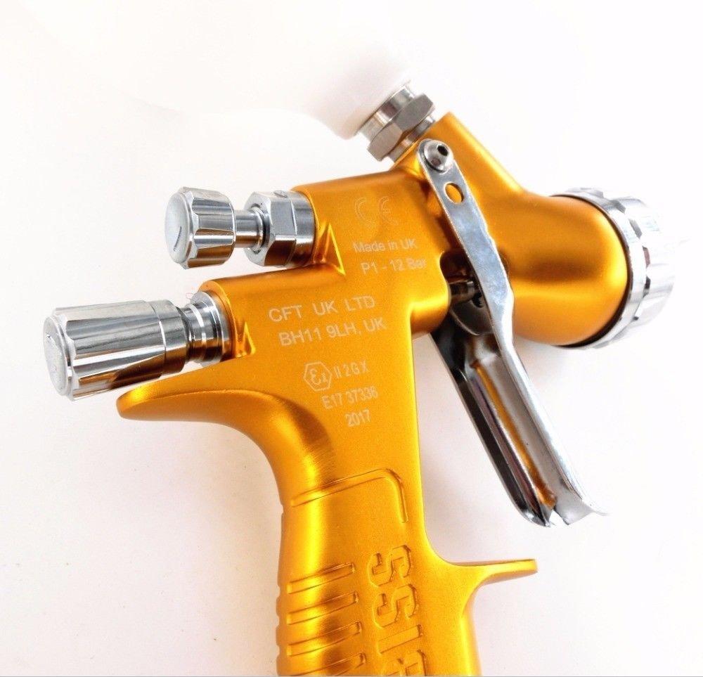 devilbes Professional Sparyer GTI PRO LITE Gold 1.3mm Nozzle w/t Cup TE20 Cap Car Paint Tool Pistol Spray Gun by devilbes (Image #3)