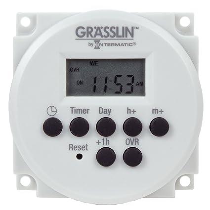 Grasslin By Intermatic Fm1d14 Av U Digital Timer One Circuit Panel