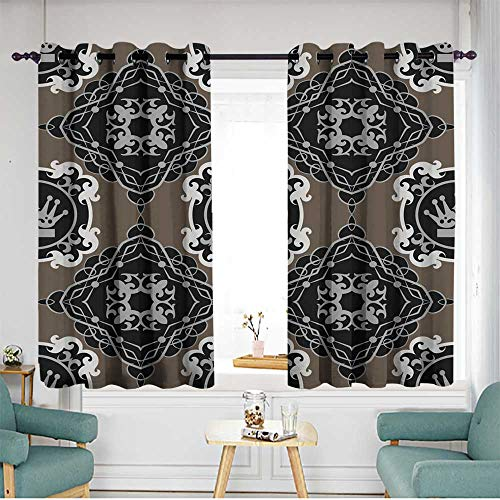 home1love Thermal Insulated Blackout Curtains for Bedroom Grommet Drapes W 55
