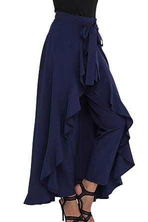 Elegantes Moda Pantalones De Tela Primavera Otoño Color