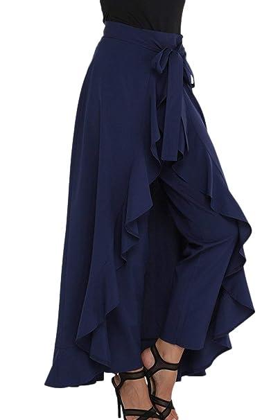 dbabbc08d Elegantes Moda Pantalones De Tela Primavera Otoño Bandage con Lazo ...