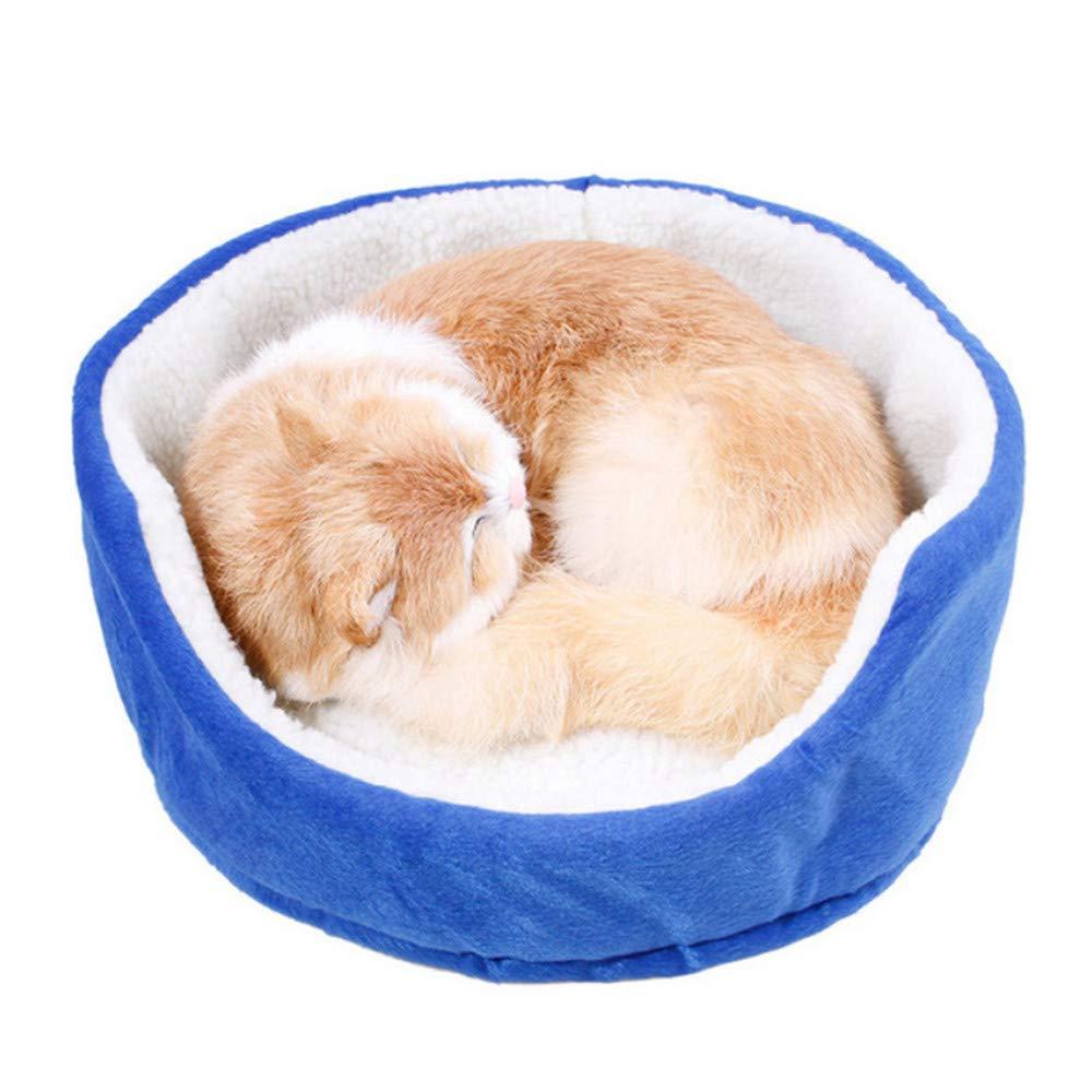grandes ahorros Wuwenw Warm Pet Dog Bed Cotton Soft Puppy Puppy Puppy Sofa Cats House Sleeping Blanket Perrera para Smalll Dogs Gatito Animal Azul Gris Rosa Amarillo, Azul  envio rapido a ti