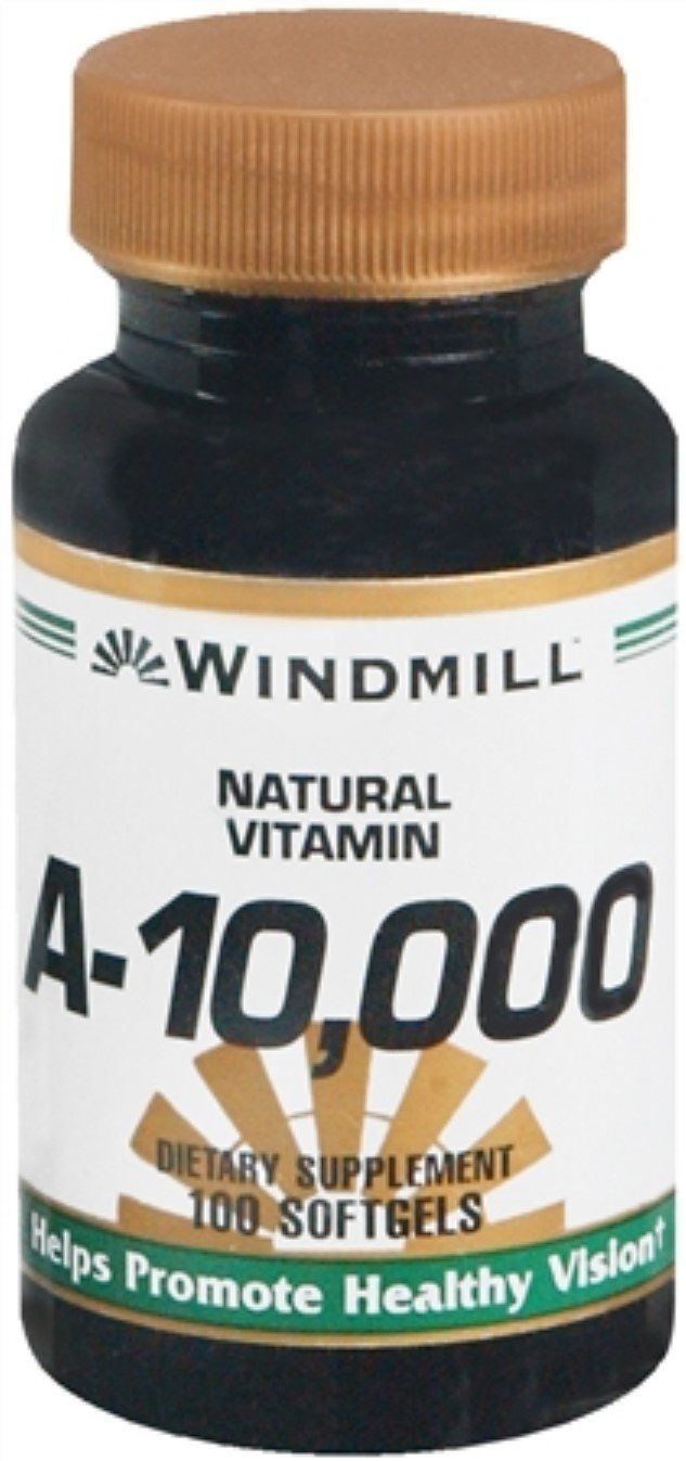 Windmill Vitamin A 10,000 IU Softgels 100 Soft Gels (Pack of 7)