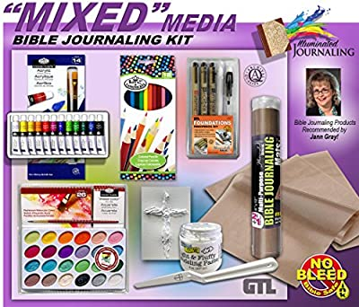Mixed Media Paint, Modeling Paste, Color Pencils and Fine Point Pen Bible Journaling Art Kit of 6