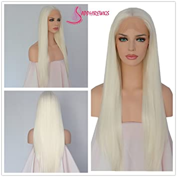 Amazoncom Sapphirewigs Daily Makeup Light Blonde Handmade Heat