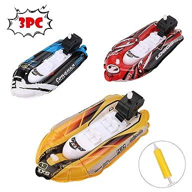 Amazon Com 3 Pcs Bath Boat Toy Inflatable Yacht Boat Pool Toy
