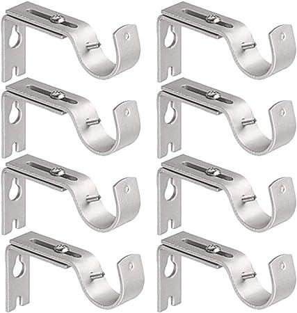 8pcs Adjustable Metal Curtain Drapery Rod Bracket 35mm Heavy Duty