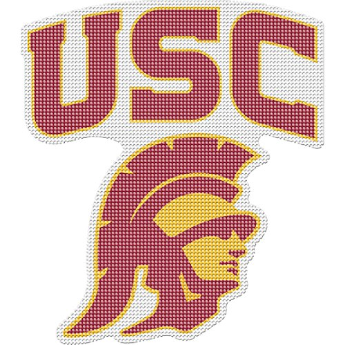 (Stockdale Usc Trojans Perforated Vinyl Window Decal)