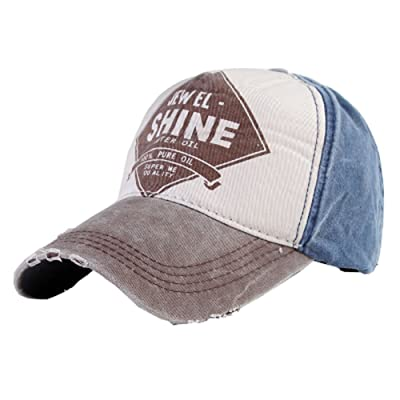 Coffee Color Shine Pattern Design Baseball Caps for Outdoor Activities