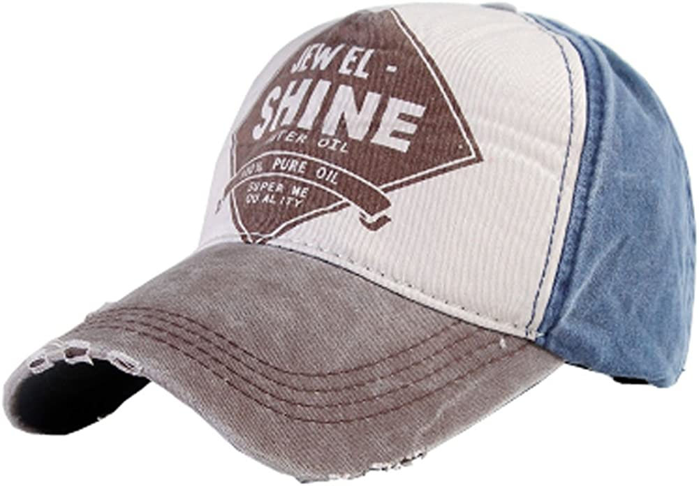 Black Temptation Coffee Color Shine Pattern Design Baseball Caps for Outdoor Activities