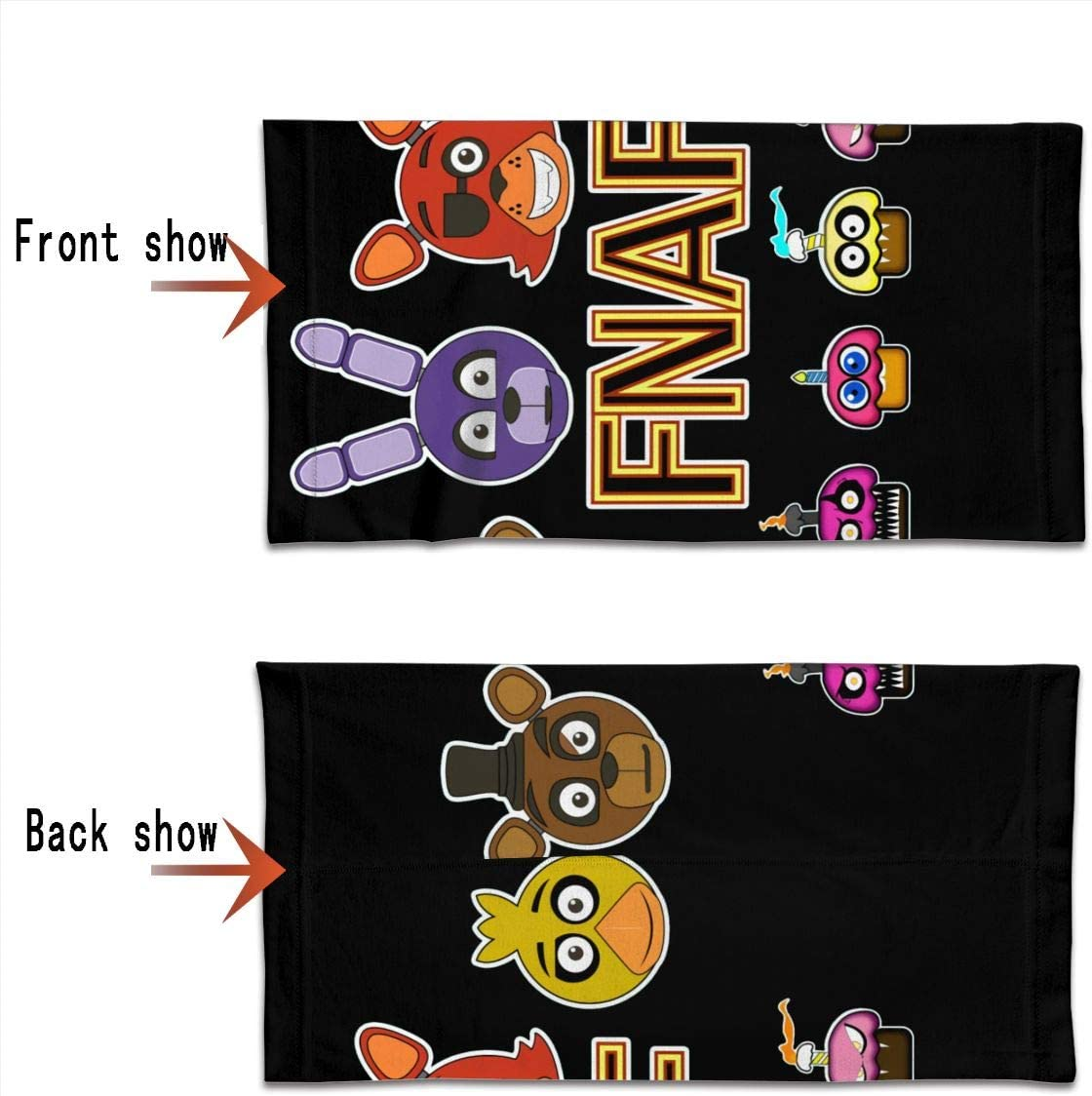 Anti-UV Face Mask For Men Women FNAF Five Nights At Freddys Dust Protection Thin Neck Gaiters
