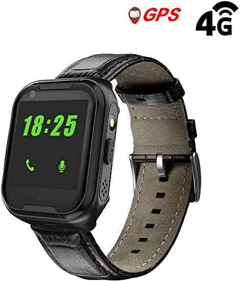 Amazon.com: Laxcido Elderly GPS Smart Watch, 4G Heart Rate ...