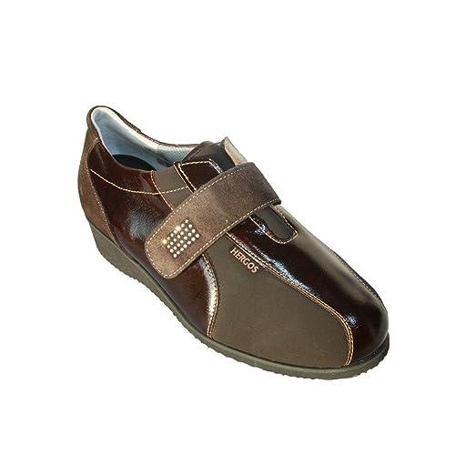 Hergos H 623 Cabeza de Moro verniceelast - Zapato Ergonómico Para juanetes - Piel Auténtica Marrón Size: 37: Amazon.es: Zapatos y complementos