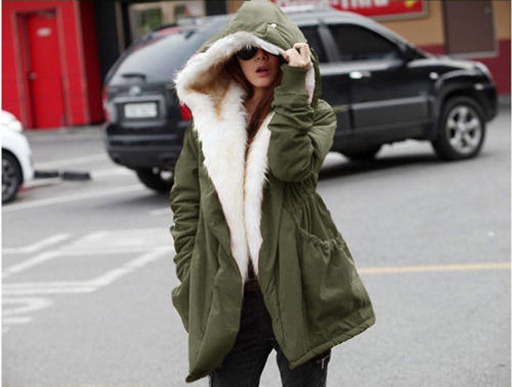 Roiii Womens Teddy Bear Casual Shearling Coat Jacket Long Sleeve Lapel Fluffy Fur Outwear
