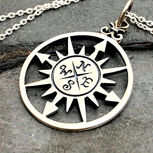Compass Rose Necklace - 925 Sterling Silver