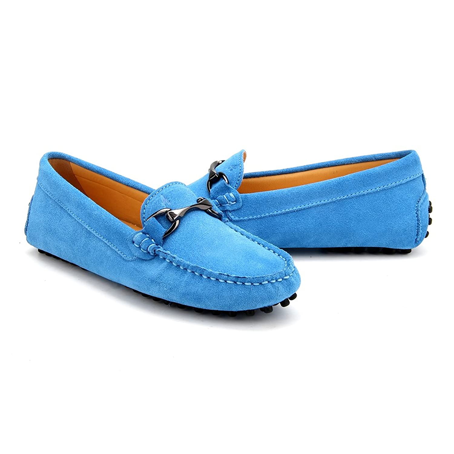 AUSLAND Women Suede Moccasin Slip-on Loafer Casual Shoe 7062