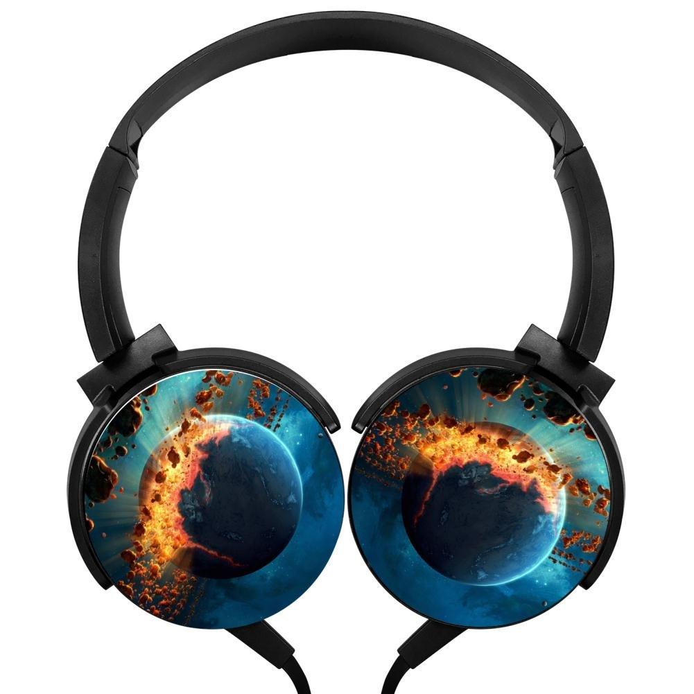 hidui Heavy Bassヘッドホン3d Planetサラウンドサウンド高忠実度ステレオ回転軸デザインポータブル有線ヘッドセットfor Adult 'sまたは子's B07D74DSQR